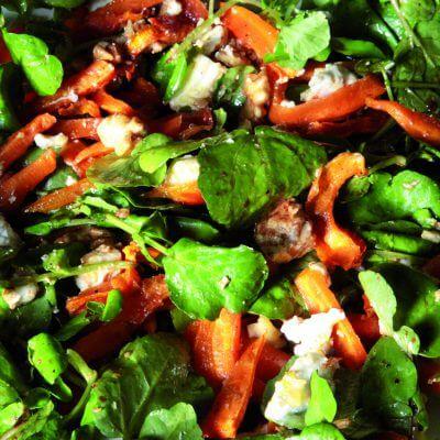 Salade carottes, cresson et chèvre frais